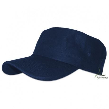 Hemp Military Cap Navy Blue