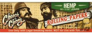 Cheech and Chong Hemp Rolling Papers 1 1/4 Box/24