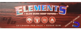 Elements Red Hemp Rolling Papers 1 1/4