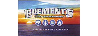 Elements Single Width Rolling Papers 100 Pack