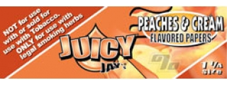 Juicy Jay's Peaches & Cream 1 1/4 Rolling Papers