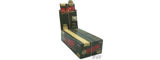 RAW Black Single Wide Rolling Papers Box/25