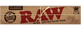 RAW Natural King Size Slim Rolling Paper Pack