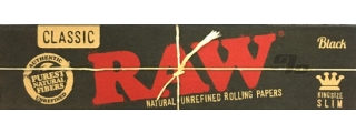 RAW Black King Size Slim Rolling Papers