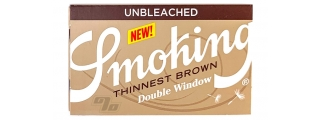 Smoking Thinnest Brown SW Double Window Rolling Papers