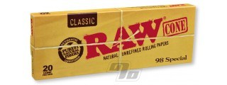 RAW Classic 98 Special Cones 20 Pack