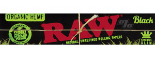 RAW Black Organic Hemp King Size Slim Rolling Papers