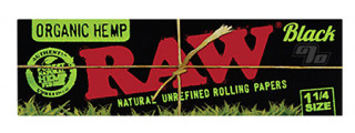 RAW Black Organic Hemp 1 1/4 Pack