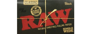 RAW Black Single Wide Rolling Paper Pack