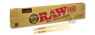 RAW Natural Cones Lean 20 Pack