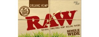 RAW Organic Single Rolling Papers Box/25