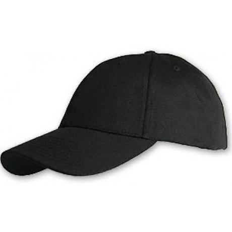Hemp/Organic Cotton Baseball Cap - Structured Black