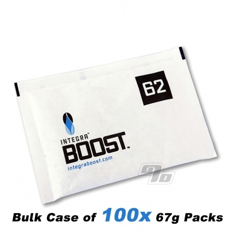 Case of 100 Integra BOOST 62% Humidity Packs 67 grams