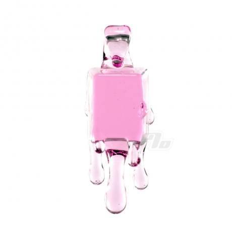 Chaka Pink Ice Cube Glass Pendant