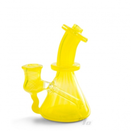 Huffy Glass Micro Jammer Lemon Drop Dab Rig