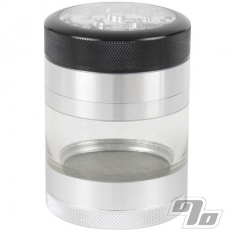 Kannastor Clear Top 2.2in Jar/Grinder/Sifter 4pc