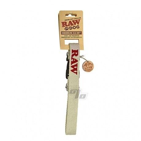 RAW DOG Hemp Pet Collar Medium 12-20 inches