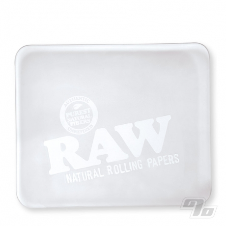 RAW Glass Rolling Tray Frosted Ice Edition
