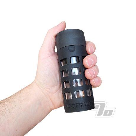 UNDURCUVR Store Glass Jar w/rubber Net