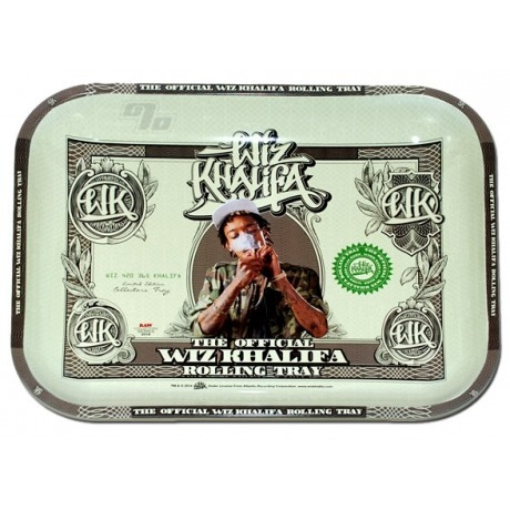Wiz Khalifa Rolling Tray from RAW Rolling Papers