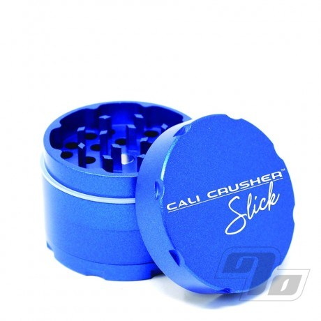 Cali Crusher OG Slick 4 Piece Herb Grinder in Blue ceramic