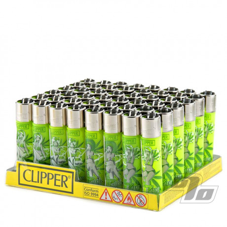 Wholesale tray of Clipper Lighters MaryJane Pinups