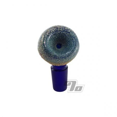 Frit Dipped Cobalt Angled Top 14mm Snapper