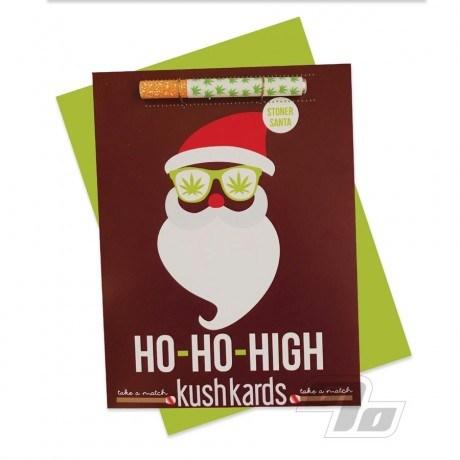 Ho Ho High Kush Hitter Kards Stoner Greeting Cards