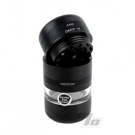 Kannastor GR8TR V2 Jar Grinder Matte Black