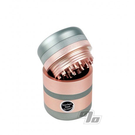 Kannastor GR8TR V2 Solid Grinder in Rose Gold for vaping or rolling herbs