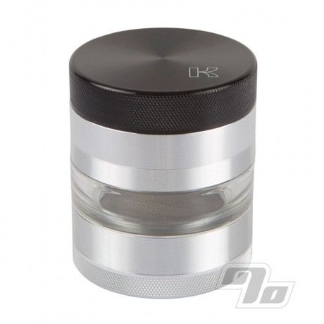 Kannastor Herb Grinder with Sifter and Clear Jar