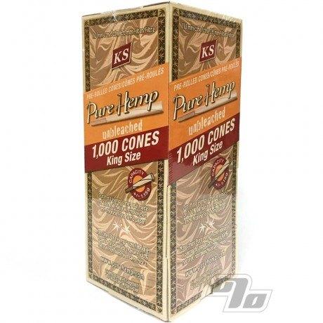 Pure Hemp Unbleached King Size Cones 1000 Bulk Pack