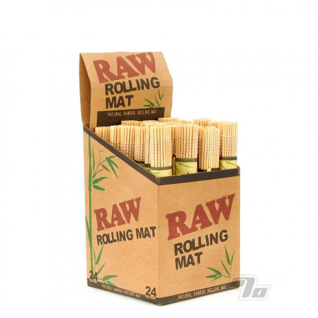 RAW Bamboo Rolling Mats Box of 24