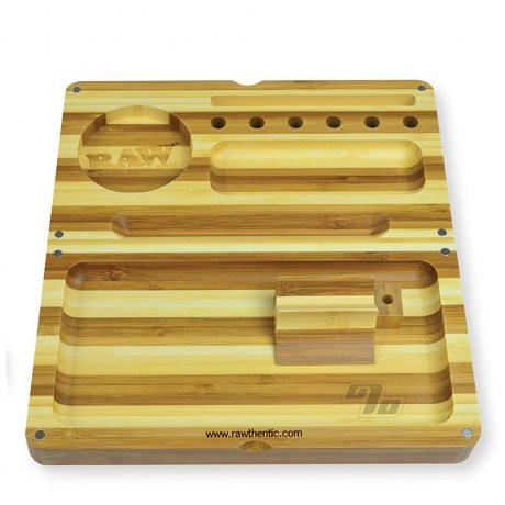 RAW Backflip Striped Bamboo Rolling Tray
