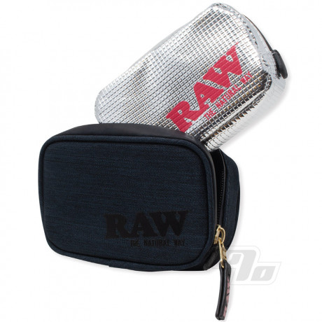 RAW Black Smell Proof Pouch Half OZ Small