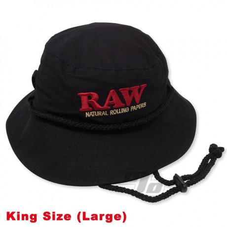 RAW Black  Smokermans Hat in 1 1/4 Medium
