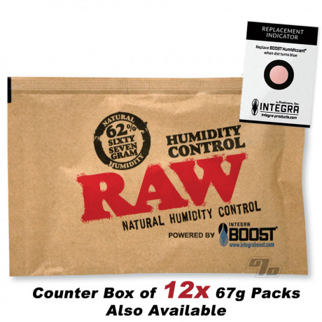 RAW x BOOST 62% Humidity Control 67 gram Pack