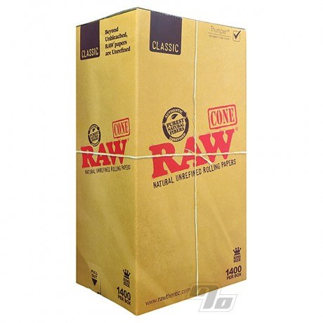 RAW Natural King Size Cones 1400 Pack