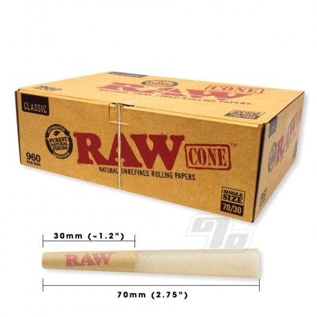 RAW Classic SW Cones 70/30 960 Bulk Pack