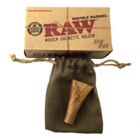 RAW Double Barrel 2 Joint Holder for Standard Size cones