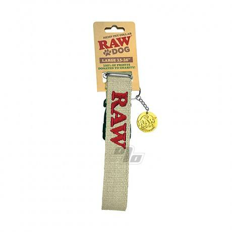RAW DOG Hemp Pet Collar Large Dogs 15 to 26 inches