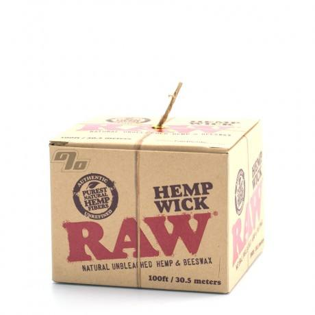 RAW Natural Hemp Wick in 100 ft spool from RAW Rolling Papers