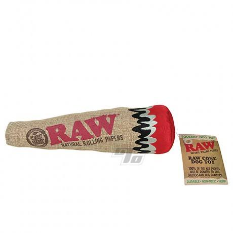 RAW Squeaky Hemp Dog Toy from RAW Rolling Papers