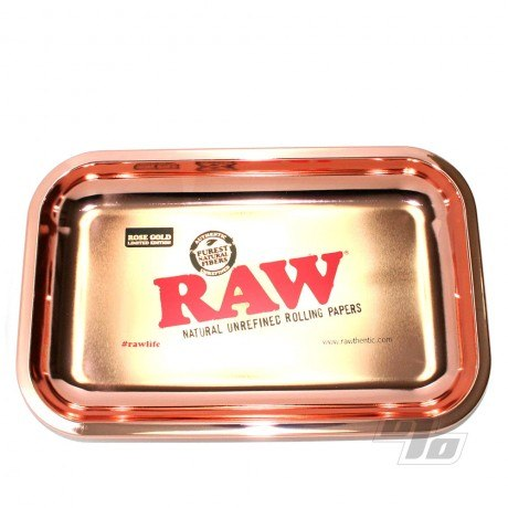 RAW 24k Rose Gold Rolling Tray