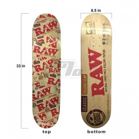 RAW Skateboard. Limited Edition Raw Rolling Papers Skateboard