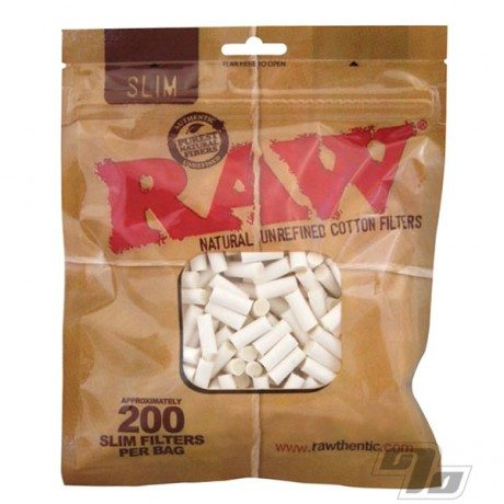 RAW Slim Cotton Cigarette Filters