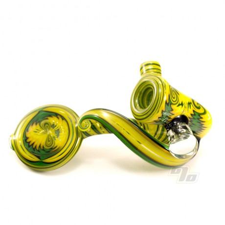 Heady Slick Glass Sherlock 167 Moldavite encapsulation seamless