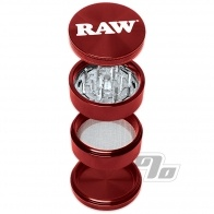 RAW Life 4-Piece Grinder in Red