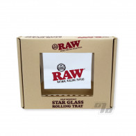 RAW Star Glass Mini Rolling Tray