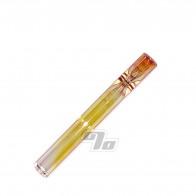 Straight Glass Bat Gold Fumed